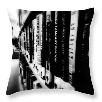 Throw Pillow featuring the photograph Mystery At The Library by Lucinda Walter