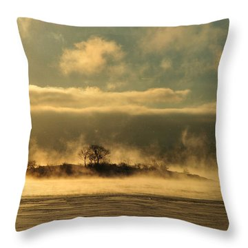 Throw Pillow featuring the photograph Mystery Island by Randi Grace Nilsberg