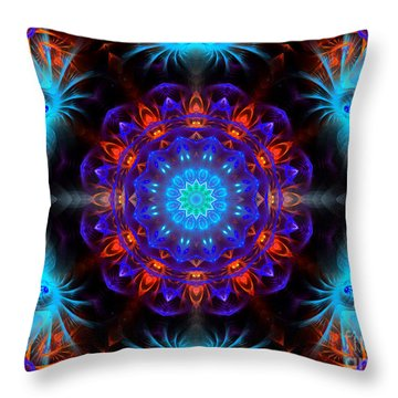 Mystery Of Blue Throw Pillow by Hanza Turgul