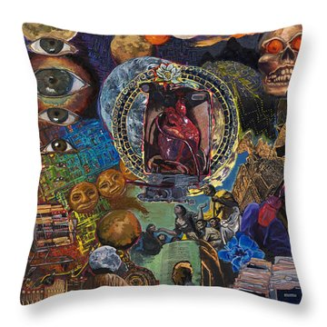 Mystery Of The Human Heart Throw Pillow