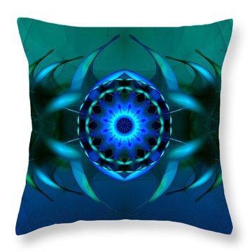 Mystery Of The Sargasso Sea Throw Pillow by Hanza Turgul