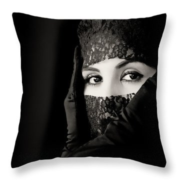Mystery That Is Woman Throw Pillow