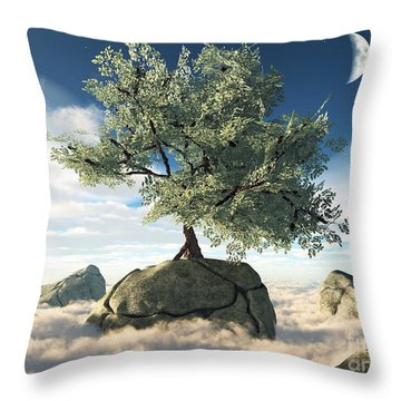 Mystery Tree Throw Pillow by Eric Nagel