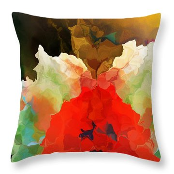 Throw Pillow featuring the digital art Mystic Bloom by David Lane