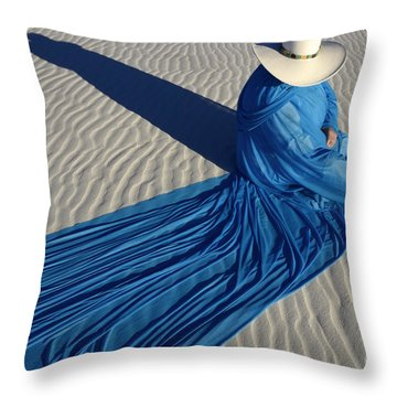 Mystic Blue 1 Throw Pillow by Bob Christopher