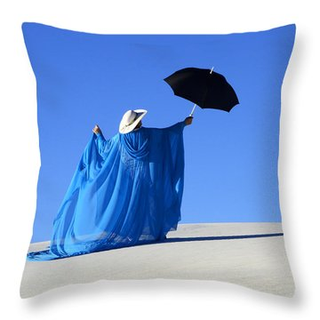 Mystic Blue 2 Throw Pillow by Bob Christopher