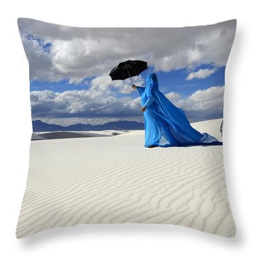 Mystic Blue 8 Throw Pillow by Bob Christopher