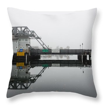 Mystic Ct Drawbridge Throw Pillow