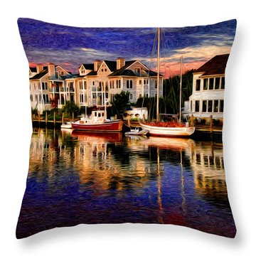 Mystic Ct Throw Pillow by Sabine Jacobs