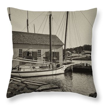Mystic Dock Throw Pillow