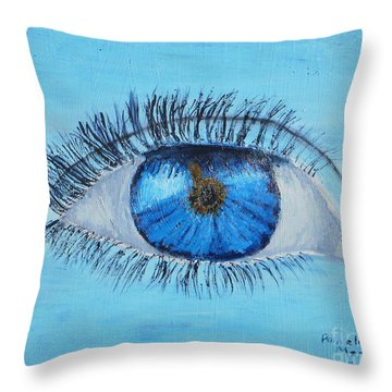 Throw Pillow featuring the painting Mystic Eye by Pamela  Meredith