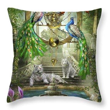 Mystic Garden Throw Pillow by Ciro Marchetti