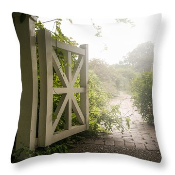 Mystic Garden - A Wonderful And Magical Place Throw Pillow by Gary Heller