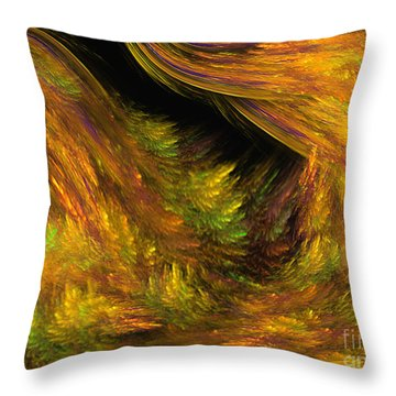Mystic Golden Woods - Fantasy Art By Giada Rossi Throw Pillow