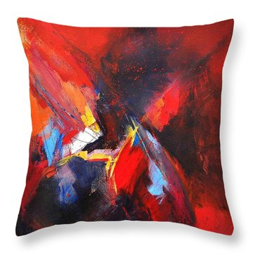 Mystic Image Throw Pillow by Glory Wood