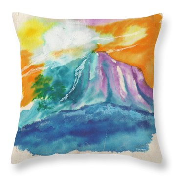 Mystic Island Throw Pillow