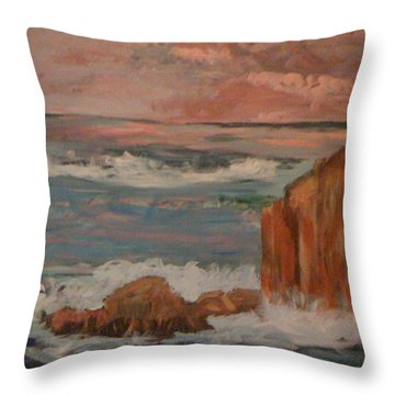 Mystic Isle Throw Pillow by Judi Goodwin