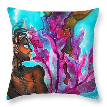 Mystic Mermaid Throw Pillow