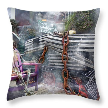 Mystic Misty Morning Throw Pillow