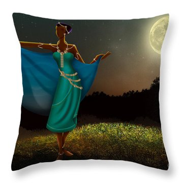 Mystic Moonlight V1 Throw Pillow by Bedros Awak