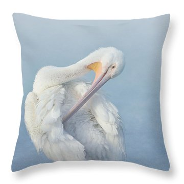Mystic Morning Throw Pillow by Fraida Gutovich