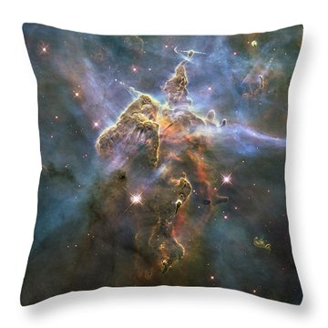Mystic Mountain Throw Pillow by Nasa