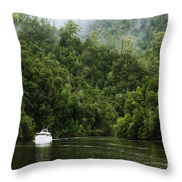 Mystic River Throw Pillow by Jola Martysz