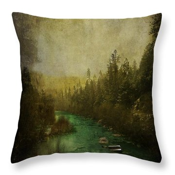Mystic River Throw Pillow by Leah Moore
