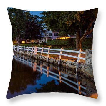 Mystic River Wall Reflection Throw Pillow