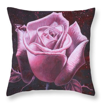 Mystic Rose Throw Pillow