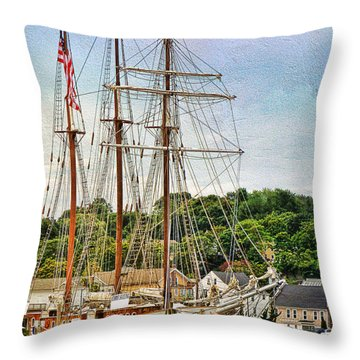 Mystic Seaport  Throw Pillow