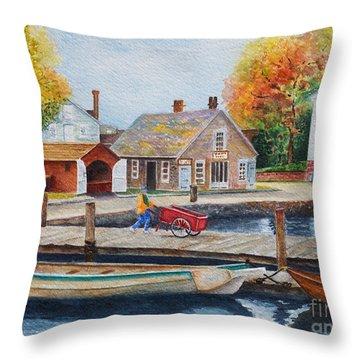 Mystic Seaport Throw Pillow