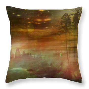 Mystic Wood  Throw Pillow by Martin Slotta