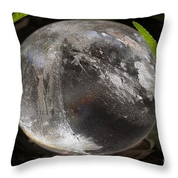 Mystical Crystal Sphere Throw Pillow