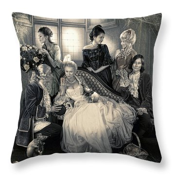 Mystical Family Throw Pillow by Cindy Grundsten