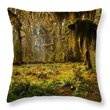 Mystical Forest Throw Pillow