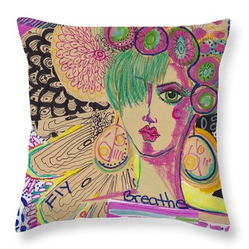 Mystical Girl Throw Pillow