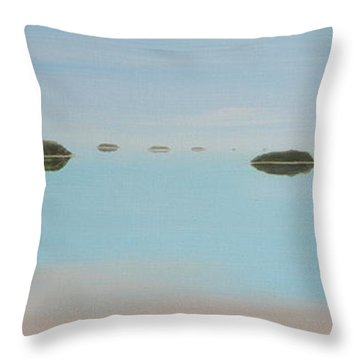 Throw Pillow featuring the painting Mystical Islands by Tim Mullaney