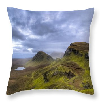 Throw Pillow featuring the photograph Mystical Landscape On Skye by Mark E Tisdale