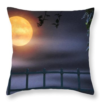 Mystical Moon Throw Pillow by Kenny Francis