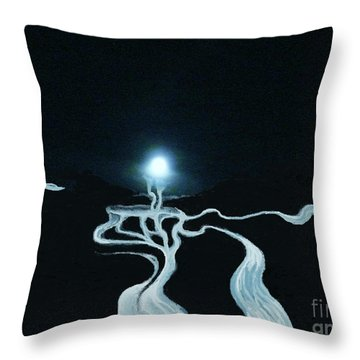 Mystic Rivers Throw Pillow by Jacquelyn Roberts