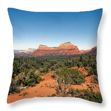 Mystical Sedona Throw Pillow by Gary Wonning