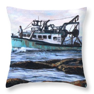 Mystique Lady Throw Pillow by Eileen Patten Oliver