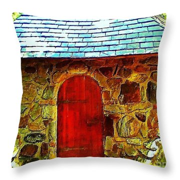 Myth And Mystical Chapel Throw Pillow