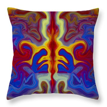 Myths Of Dragons Throw Pillow