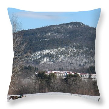 New Hampshire Sleigh Rides Throw Pillow