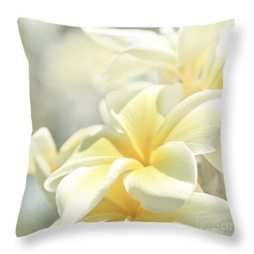 Na Lei Pua Melia Aloha E Ko Lele Throw Pillow
