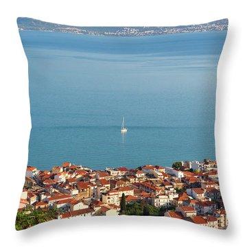 Nafpaktos, West Greece, Greece Throw Pillow