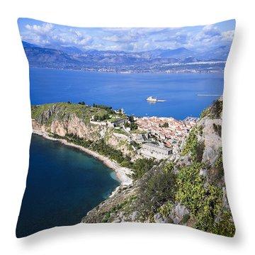Nafplio Peninsula Throw Pillow