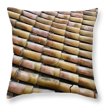 Nafplio Roof Tiles Throw Pillow